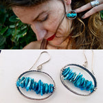 Turquoise. Orbit Earrings.