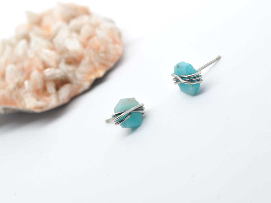Amazonite | Maven Stud Earrings