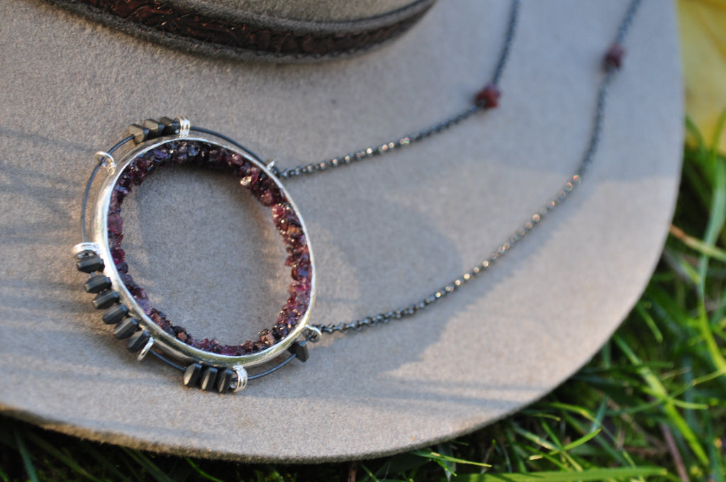 Garnet | Aviator Necklace | Ready to ship