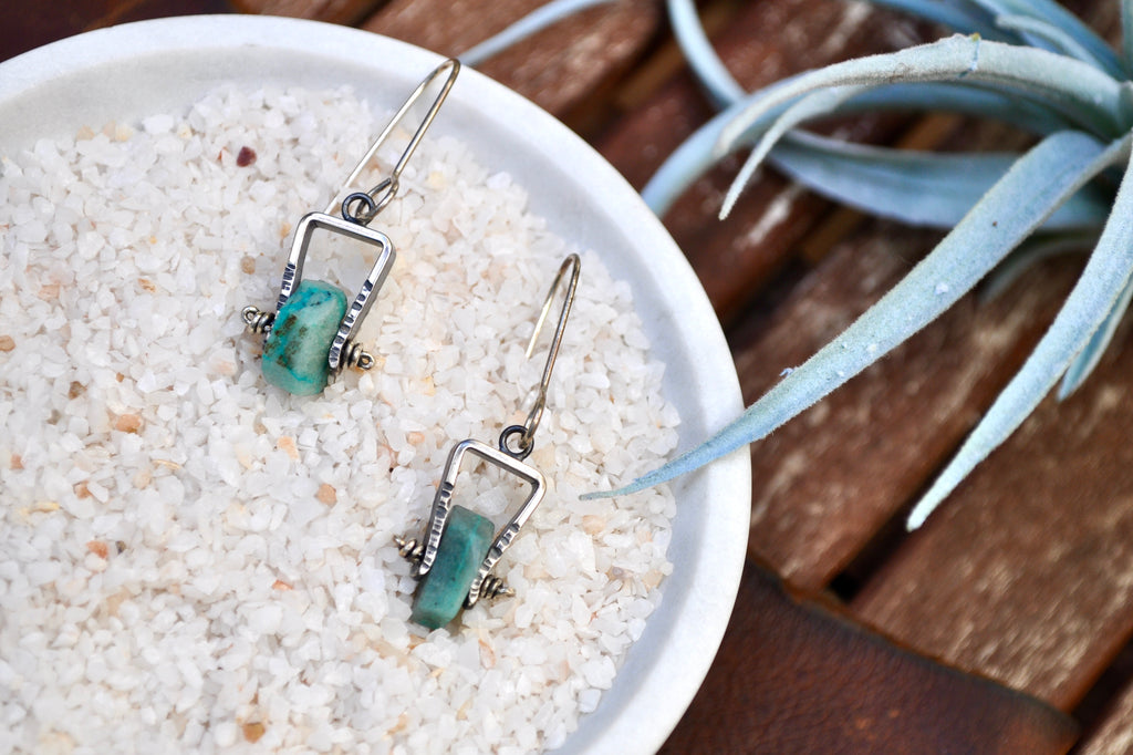 Chrysocolla | Short Axel Earrings