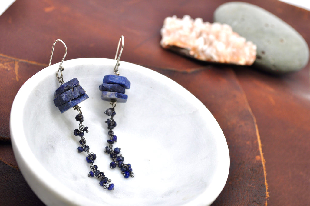 Raw Sapphire | Atolla Earrings