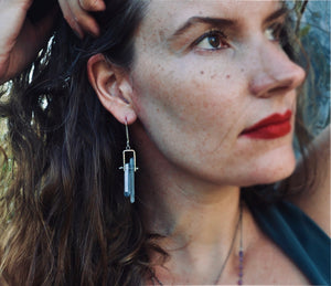 Blue Quartz No.2 | Cave Earrings