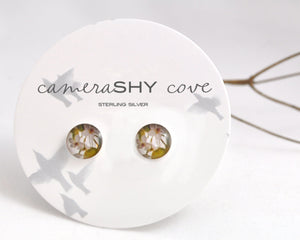 BLOOM. Photo Stud Earrings - cameraSHY cove