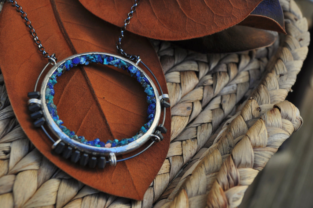 Bluebird Azurite | Aviator Necklace