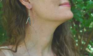 Pyrite | Seed Hull Earrings