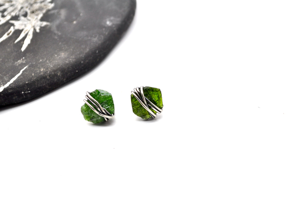 Chrome Diopside | Maven Stud. Earrings