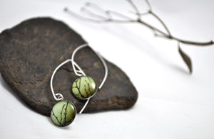 Olive. Eclipse Dangle Earrings. - cameraSHY cove