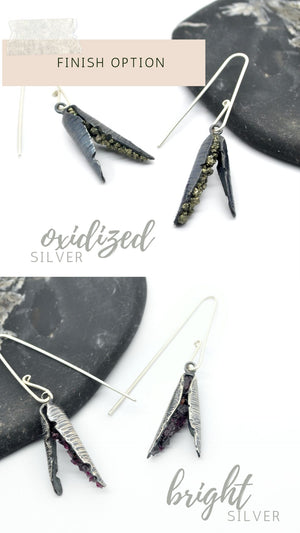 Stone choice | Seed Hull Earrings