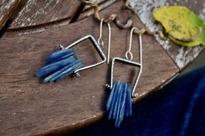 Kyanite | Cave Earrings | Blue