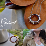 Garnet | Suspension Necklace