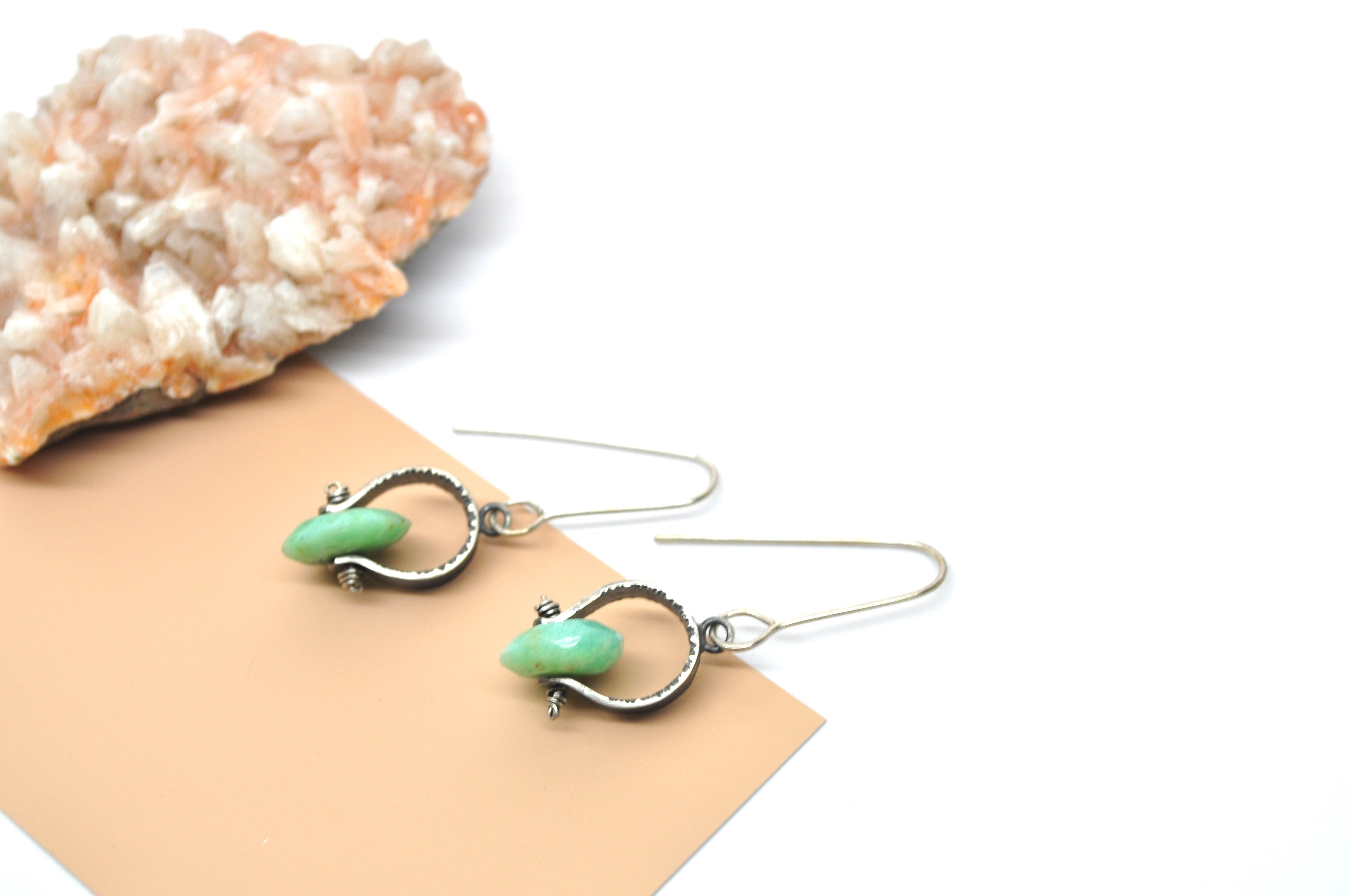 Chrysoprase | Short Axel Earrings