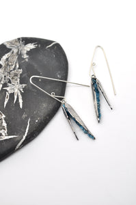 Apatite | Leaf Husk Earrings