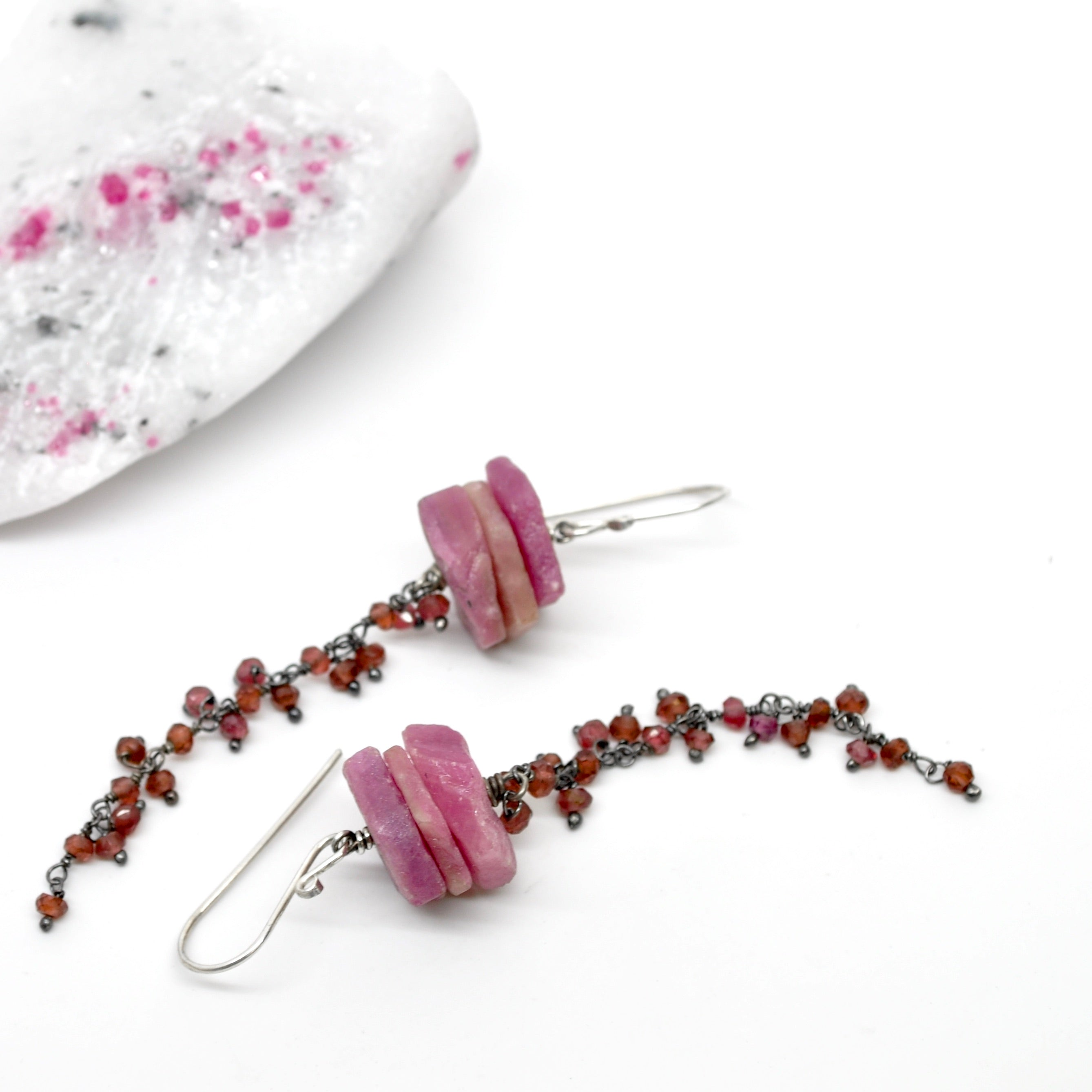 Raw Ruby | Atolla Earrings