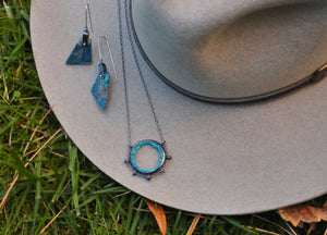 Chrysocolla & Turquoise | Suspension Necklace