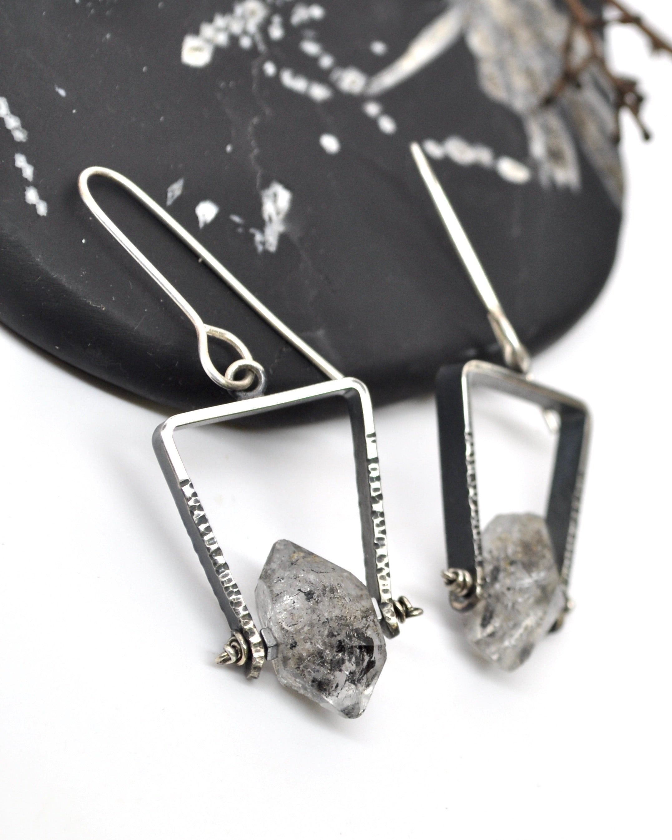 Herkimer Diamond | Tripod Earrings