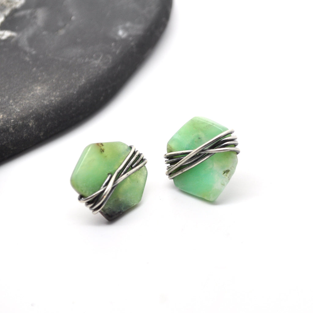 Chrysoprase | Maven Stud Earrings