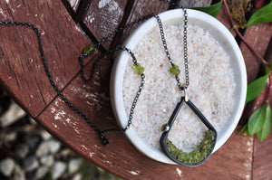 Peridot | Terrain Necklace | Ready to ship