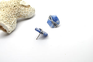 Kyanite | Maven Stud Earrings | Blue