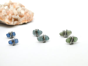 Kyanite | Moxie studs | blue, green, teal