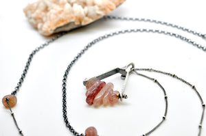 Strawberry Quartz | Axel Necklace