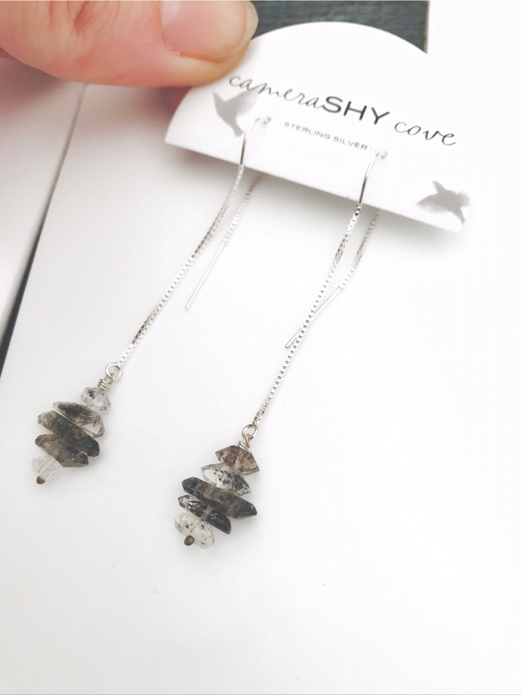 Herkimer Diamond | Threader earrings | Ready to ship