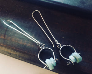 Axel Earrings. Larimar - cameraSHY cove