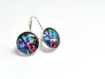 BUDDING. Leverback Earrings. - cameraSHY cove