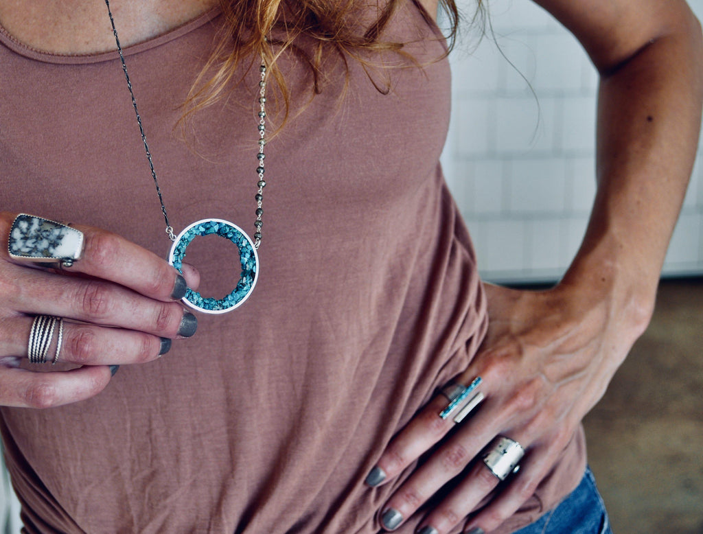 Geode Necklace - cameraSHY cove