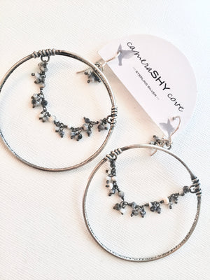 "Waterfall Hoops, 2"" Large - cameraSHY cove"
