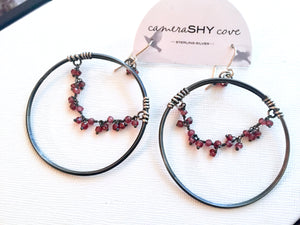 "Waterfall Hoops - Oxidized - 2"" Large - cameraSHY cove"