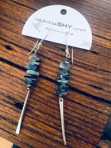 Spine Earrings.  Kyanite - cameraSHY cove