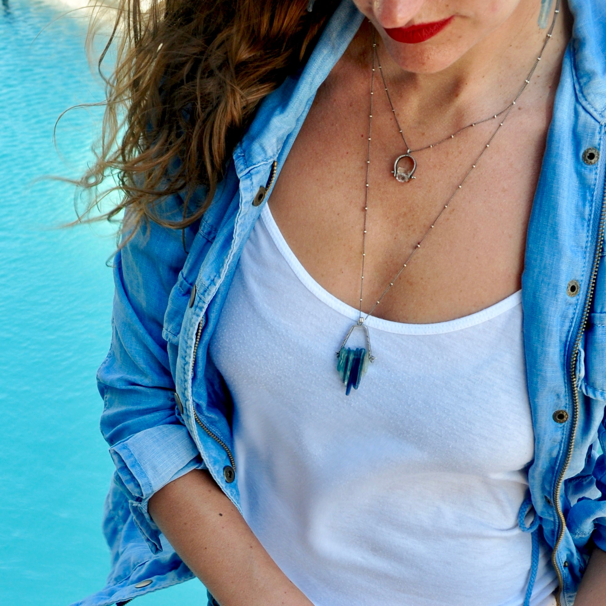 Lagoon Necklace. Kyanite
