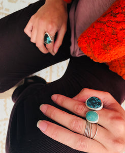 Twinning. Turquoise ring - cameraSHY cove