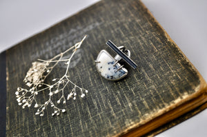 Levee. Dendritic opal statement ring