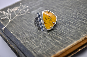 Levee. Jasper statement ring - cameraSHY cove