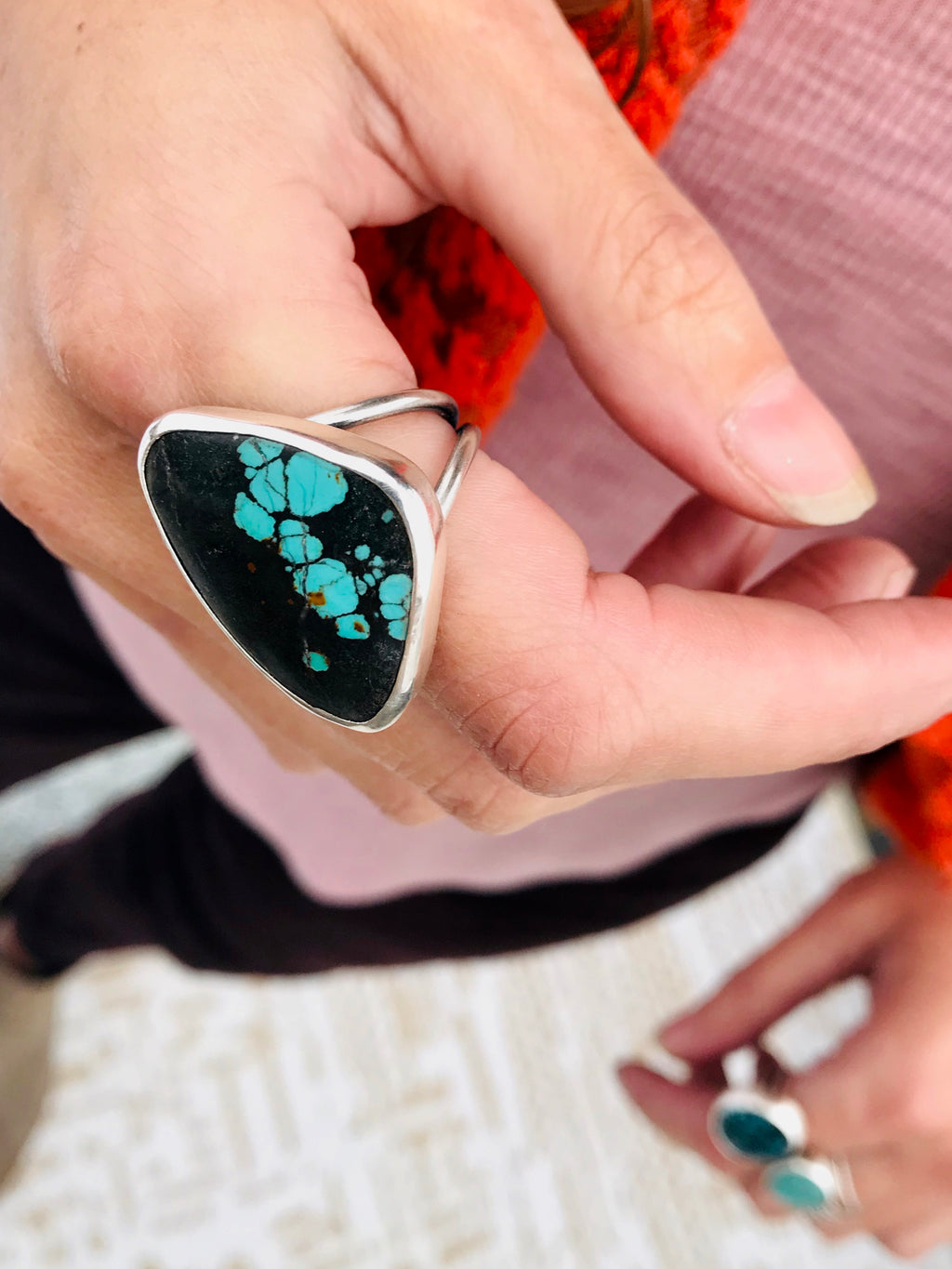 Lichen You. Turquoise statement ring
