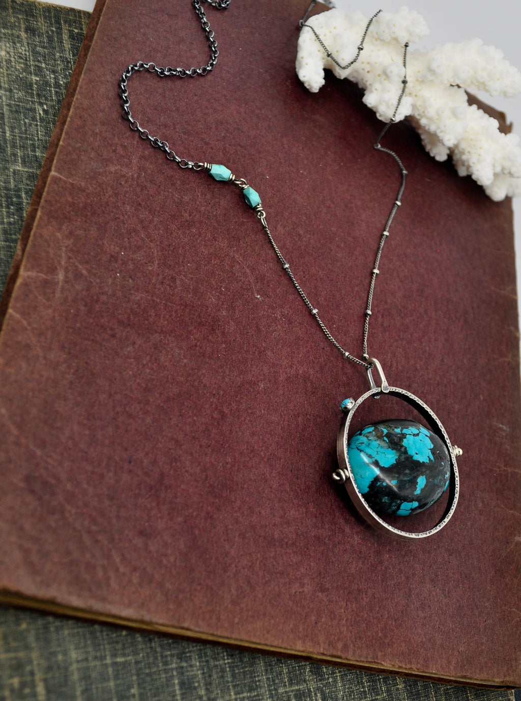 ORBIT Necklace. Turquoise No.2 - cameraSHY cove