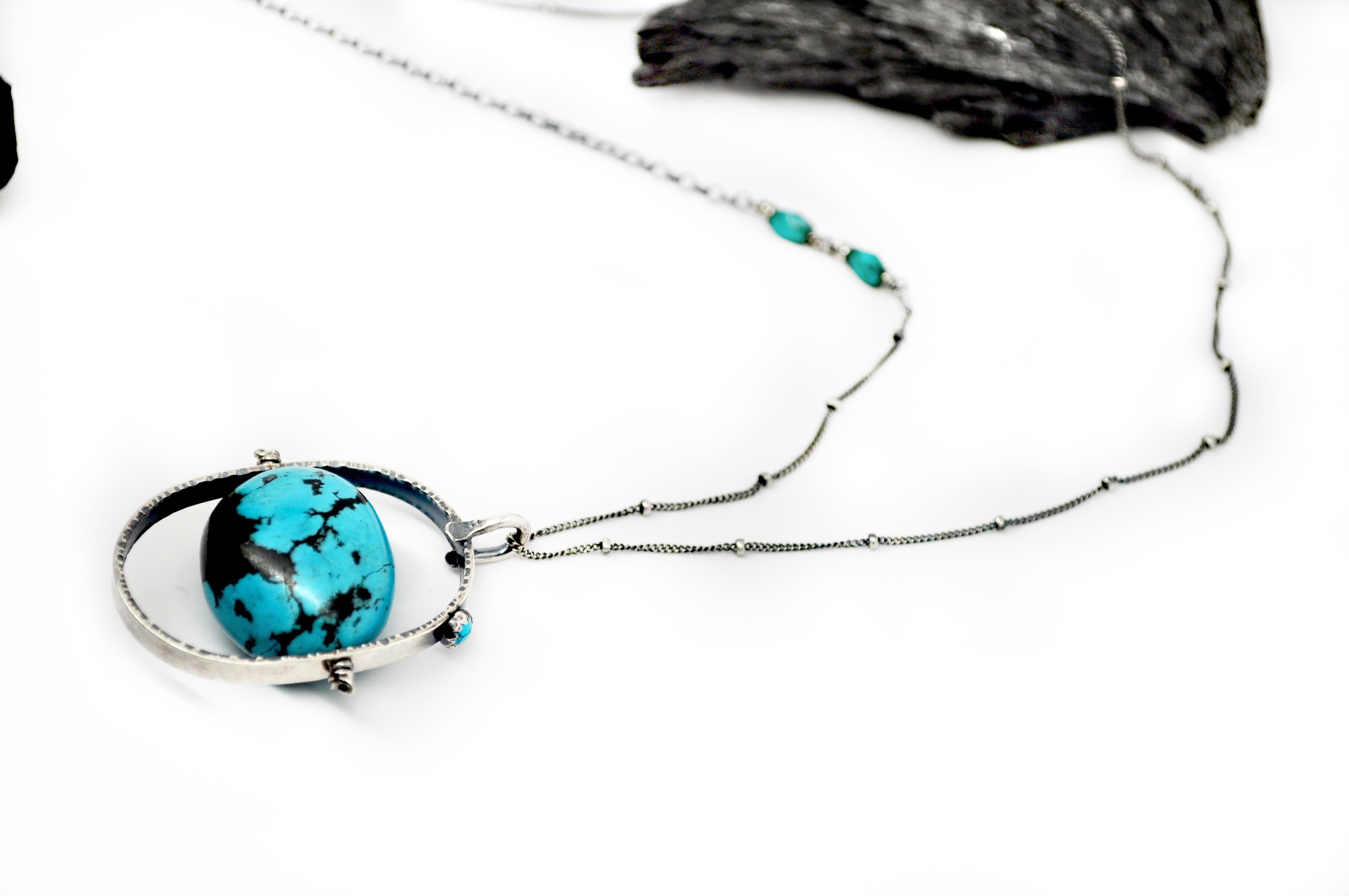 ORBIT Necklace. Turquoise No.1 - cameraSHY cove