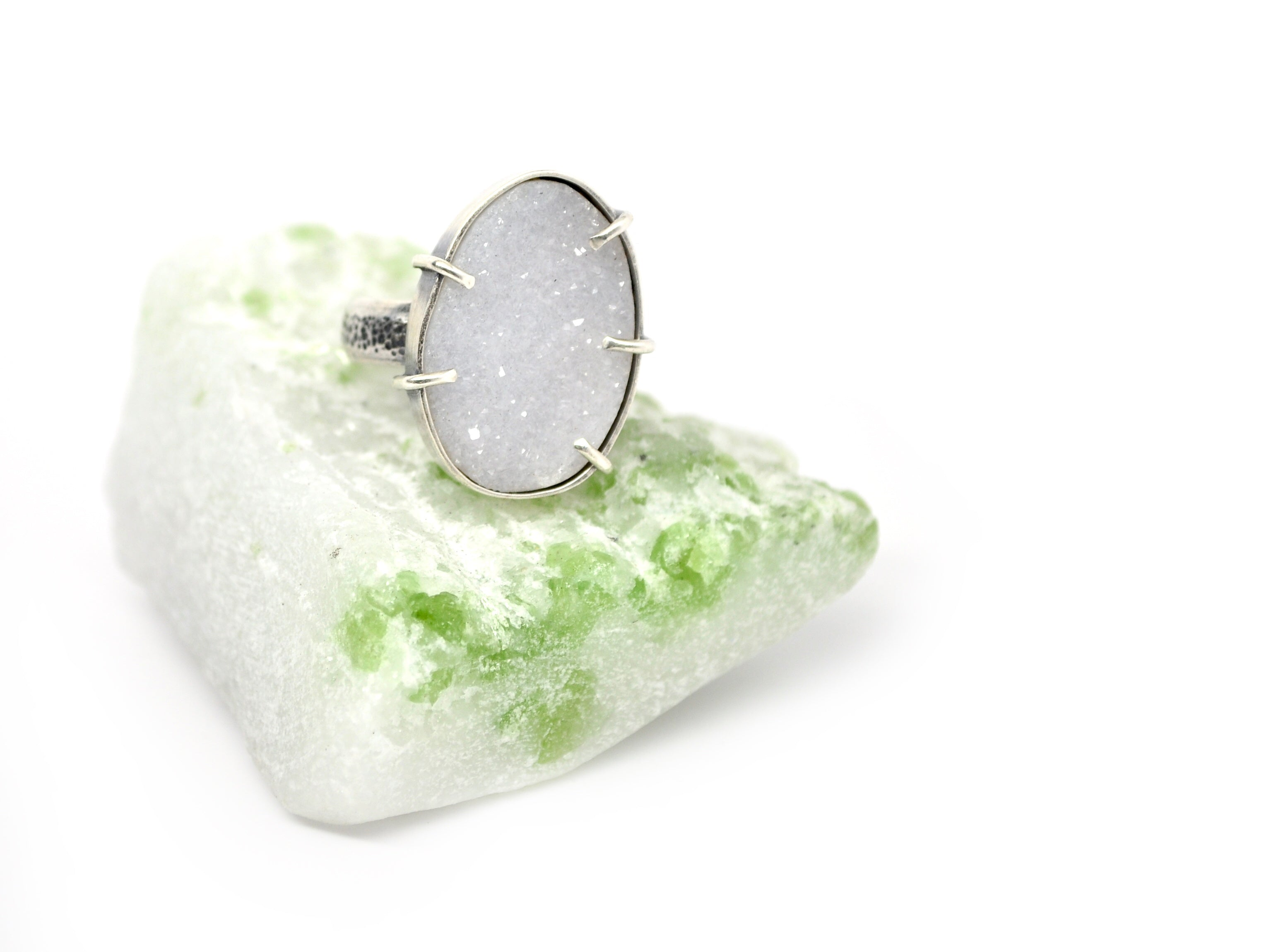 Luna. Druzy Statement Ring. Size 8 - cameraSHY cove
