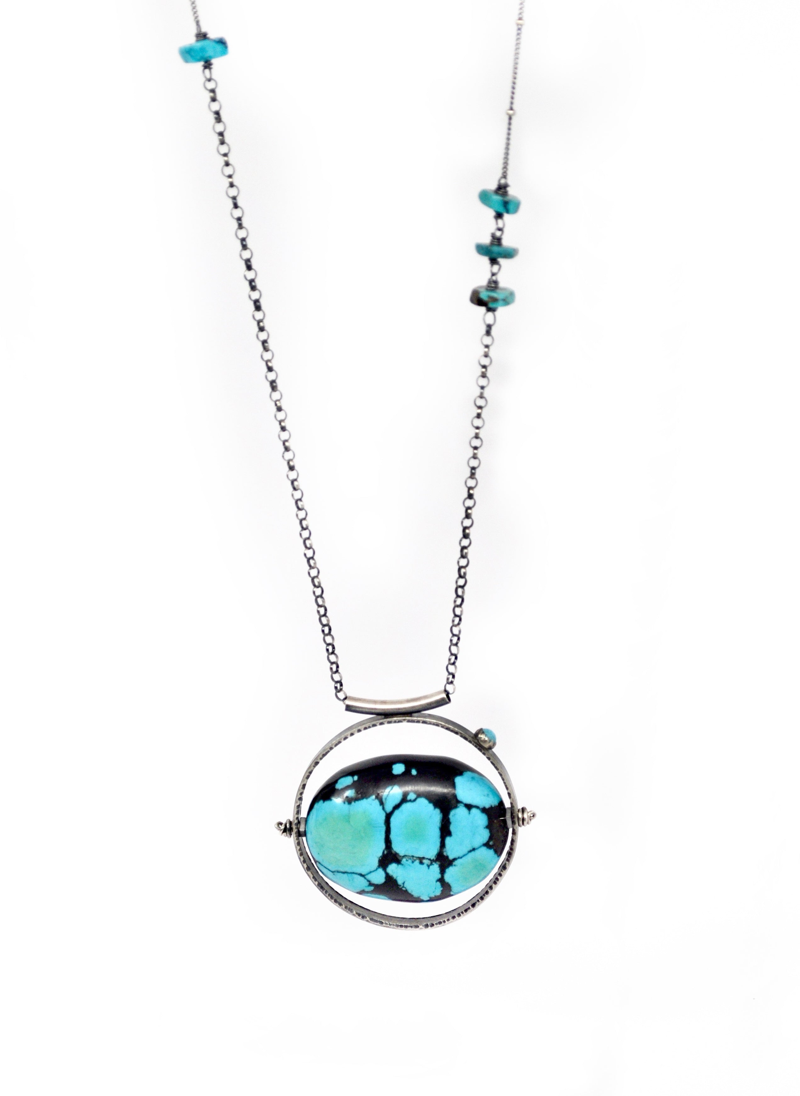 ORBIT Necklace. Turquoise No.3 - cameraSHY cove