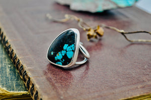Lichen You. Turquoise Statement Ring. Size 8.5 - cameraSHY cove