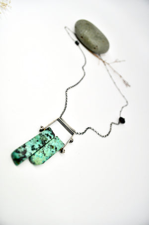 Axel Tube Necklace. African Turquoise - cameraSHY cove