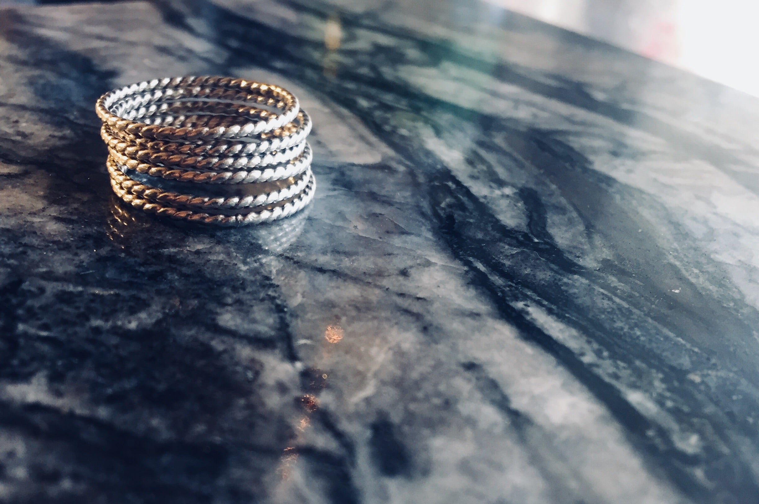 Twisted Ringstack. - cameraSHY cove
