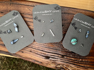 Quad pack. Mismatched set of 4 studs. - cameraSHY cove