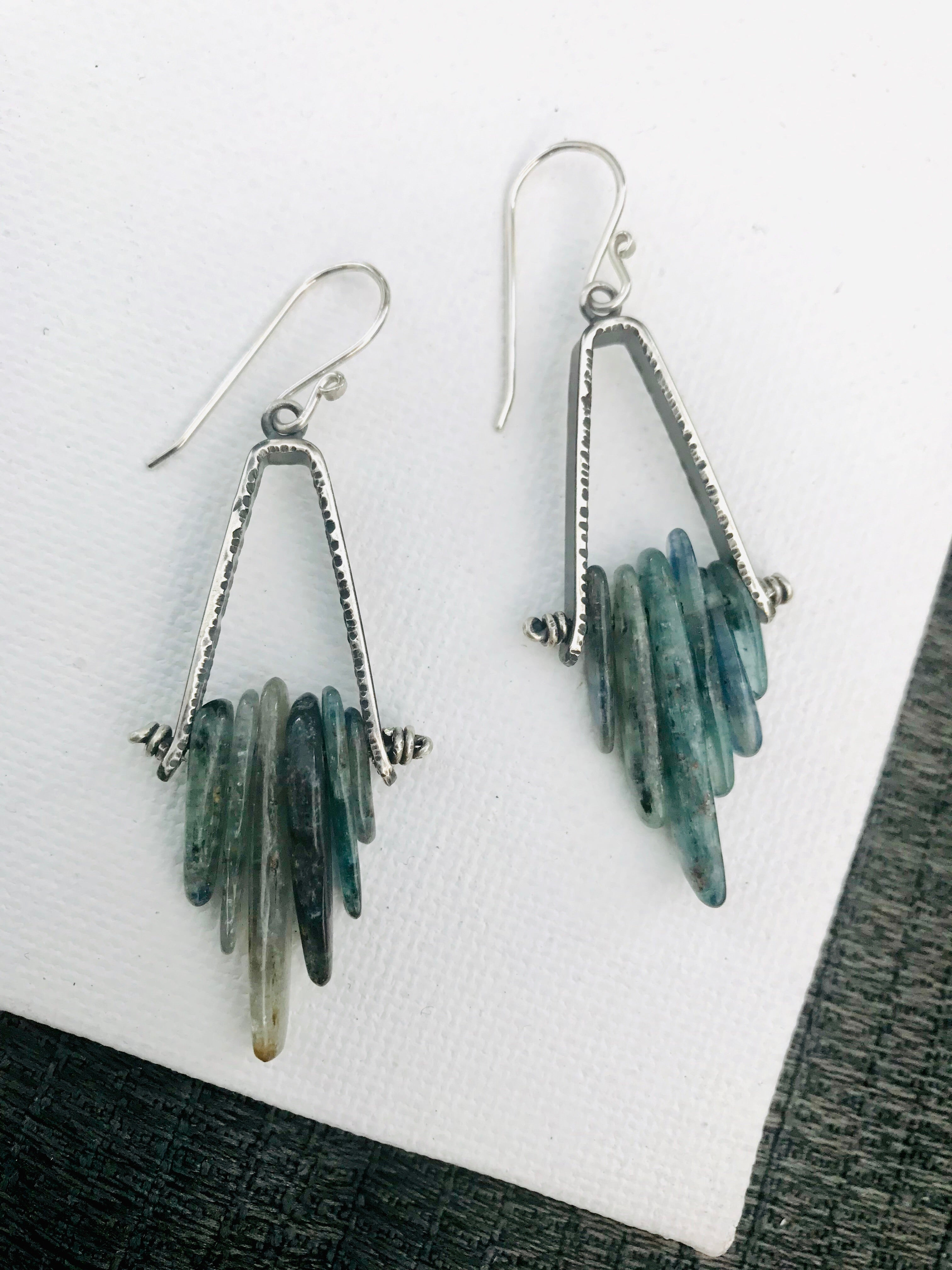 Apex Earrings. Kyanite. - cameraSHY cove