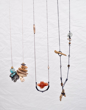 Suspension Necklace. Aragonite - cameraSHY cove