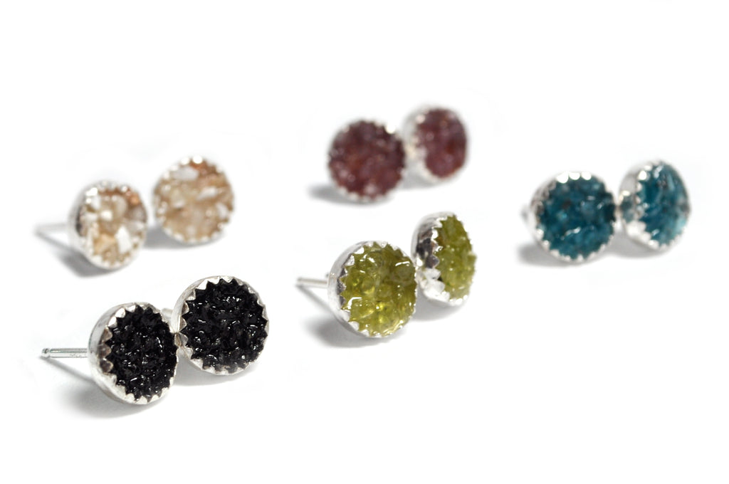 Crushed Stone Studs - Medium size - cameraSHY cove