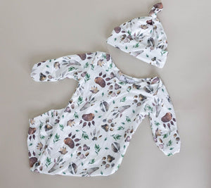 Tracks Baby Gown