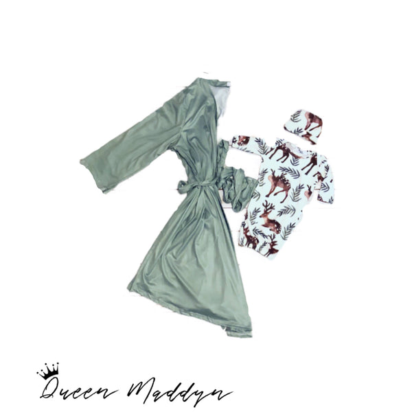 Sage Ladies Robe