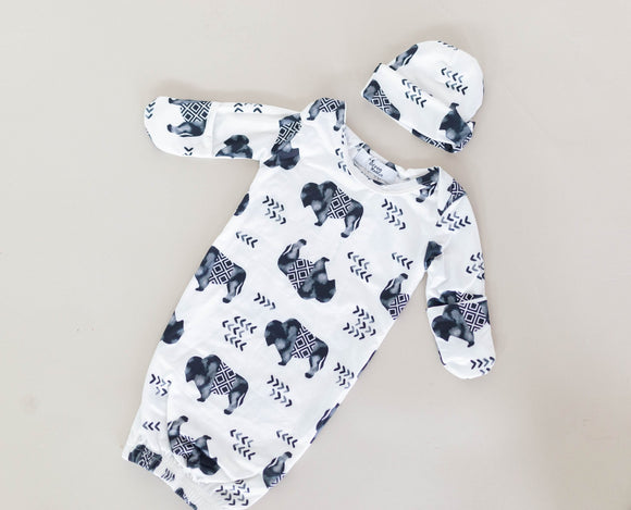 Buffalo Baby Gown